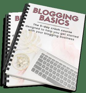 Blogging Basics Mockup