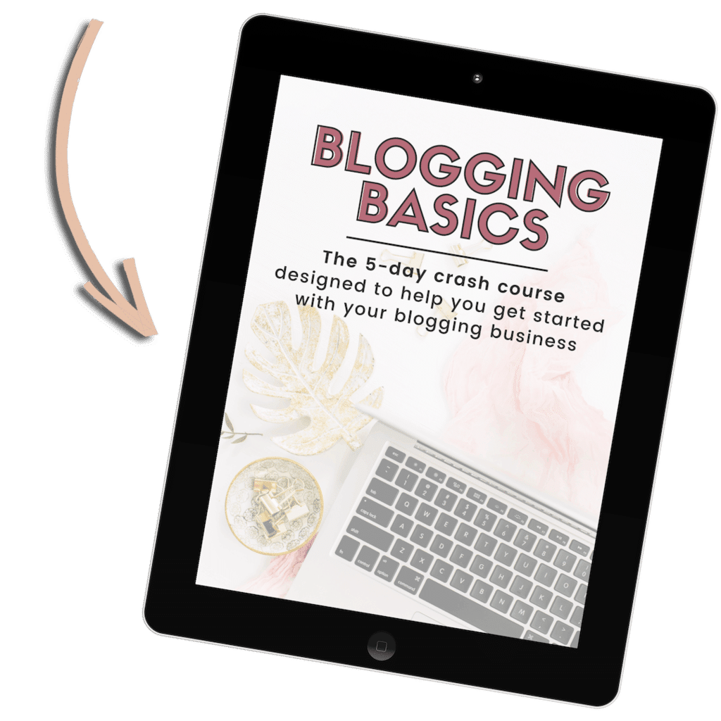Blogging Basics Free Course Mockup