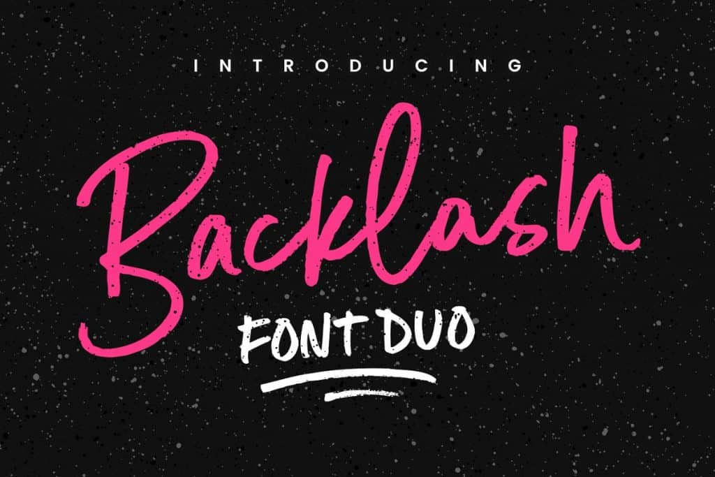 Backlash font duo on Creative Market. Check out 25 Gorgeous Font Duos That Will Instantly Transform Your Brand!