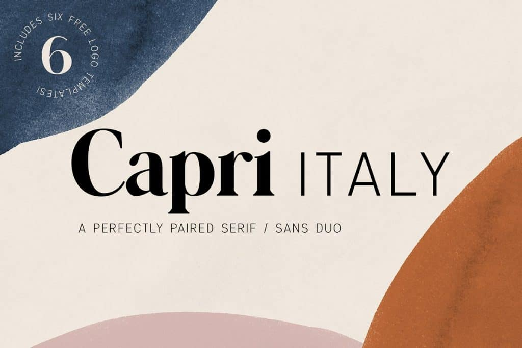 Capri serif/sans font duo on Creative Market. Check out 25 Gorgeous Font Duos That Will Instantly Transform Your Brand!