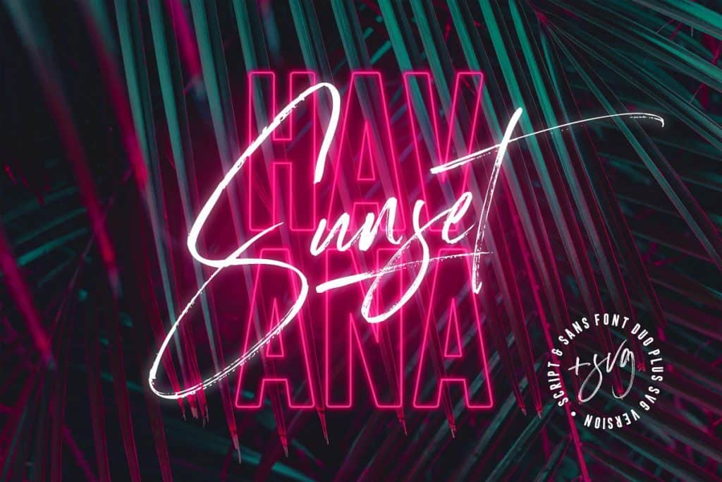 Havana Sunset font duo on Creative Market. Check out 25 Gorgeous Font Duos That Will Instantly Transform Your Brand!
