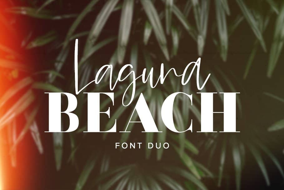 Laguna Beach font duo on Creative Market. Check out 25 Gorgeous Font Duos That Will Instantly Transform Your Brand!