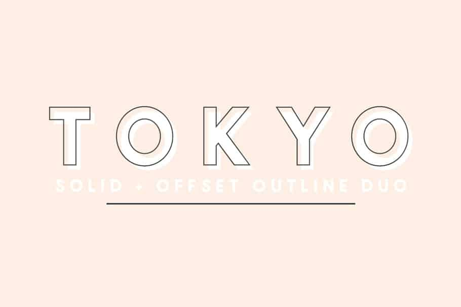 Tokyo solid & offset font duo on Creative Market. Check out 25 Gorgeous Font Duos That Will Instantly Transform Your Brand!