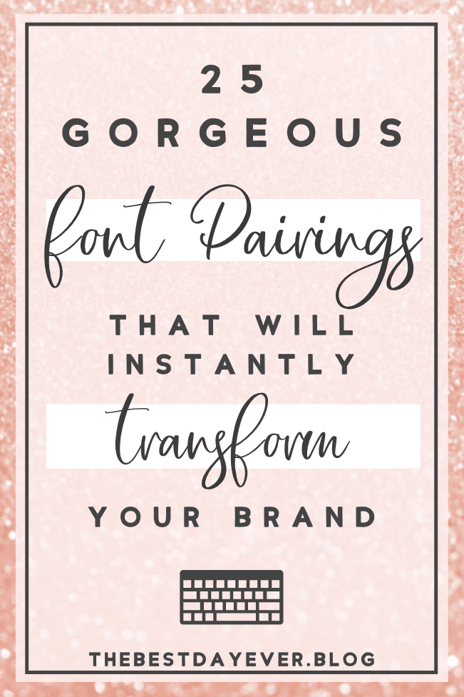 Take the guesswork out of choosing which fonts work together with these incredible pre-made font duos and instantly transform your brand today!