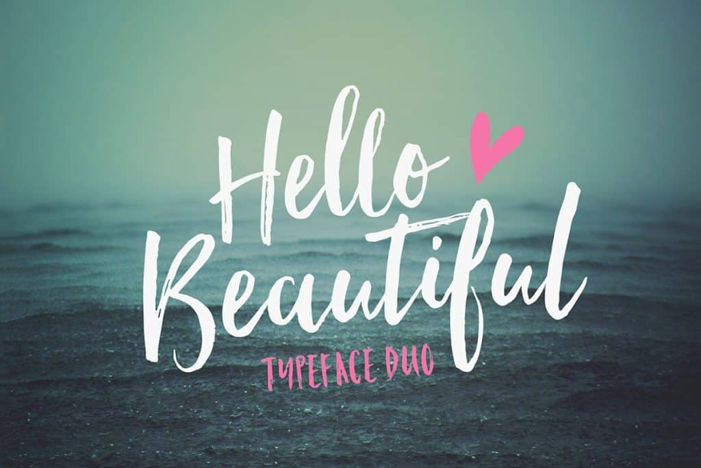 Hello Beautiful font duo on Creative Market. Check out 25 Gorgeous Font Duos That Will Instantly Transform Your Brand!