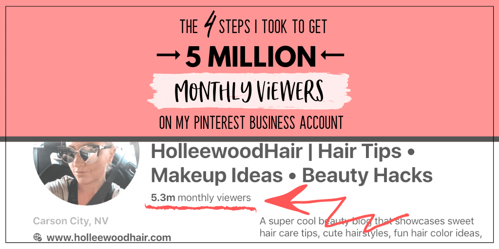 Pinterest is a blogger's best friend, but have you mastered it? Find out the exact steps that grew my account to 5 million monthly viewers on Pinterest...