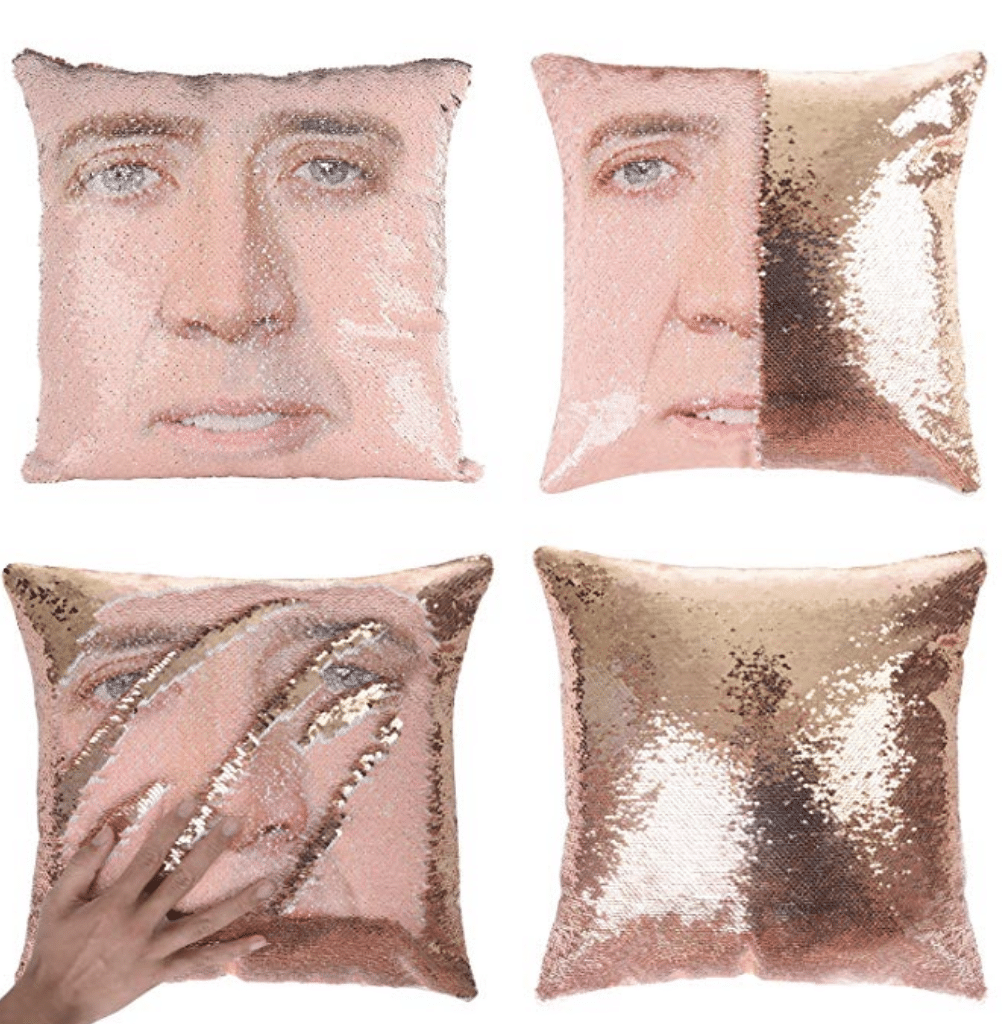 A Nicholas Cage sequin pillow? Yes, please! You have to check out these 25 incredibly bizarre Amazon products for sale on the mega-website.
