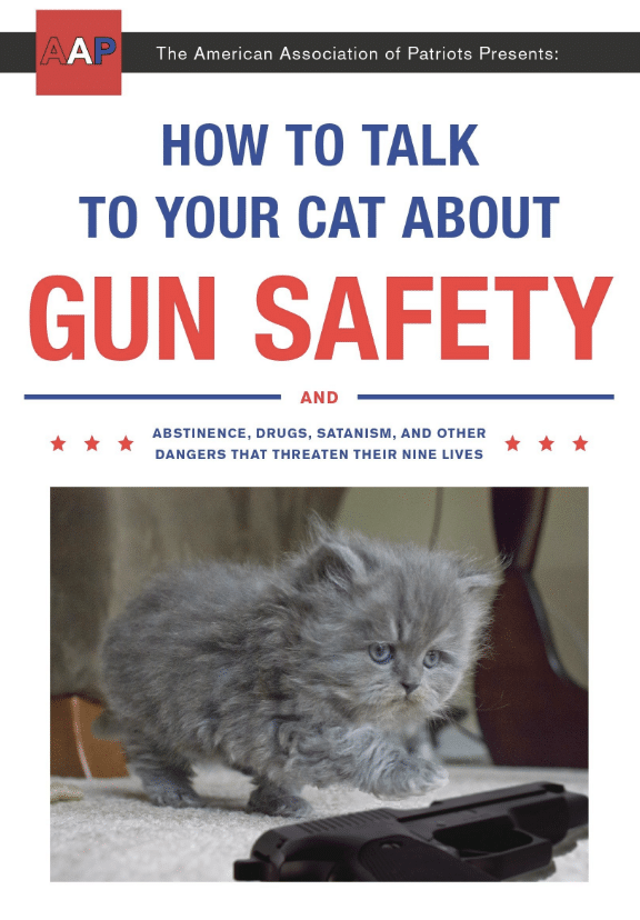 A book that helps you talk to your cat about gun safety and other dangers? Yes, please! You have to check out these 25 incredibly bizarre Amazon products for sale on the mega-website.