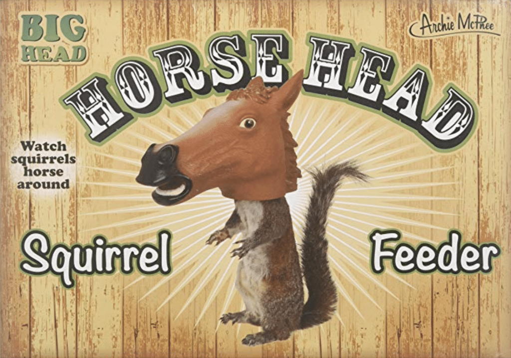 A horse head squirrel feeder? Yes, please! You have to check out these 25 incredibly bizarre Amazon products for sale on the mega-website.